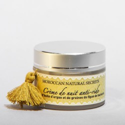Crema de noche antiedad con aceite de fruto del cactus y argán